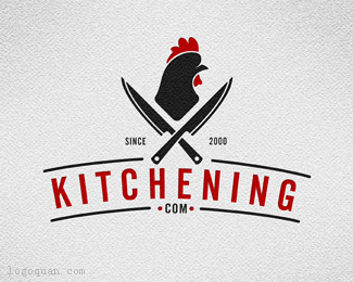 Kitchening餐厅logo