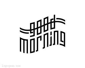 good morning字体设计