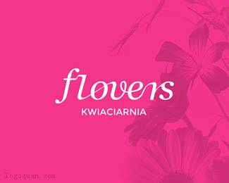 Flovers花店logo