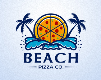 BEACH PIZZA标志
